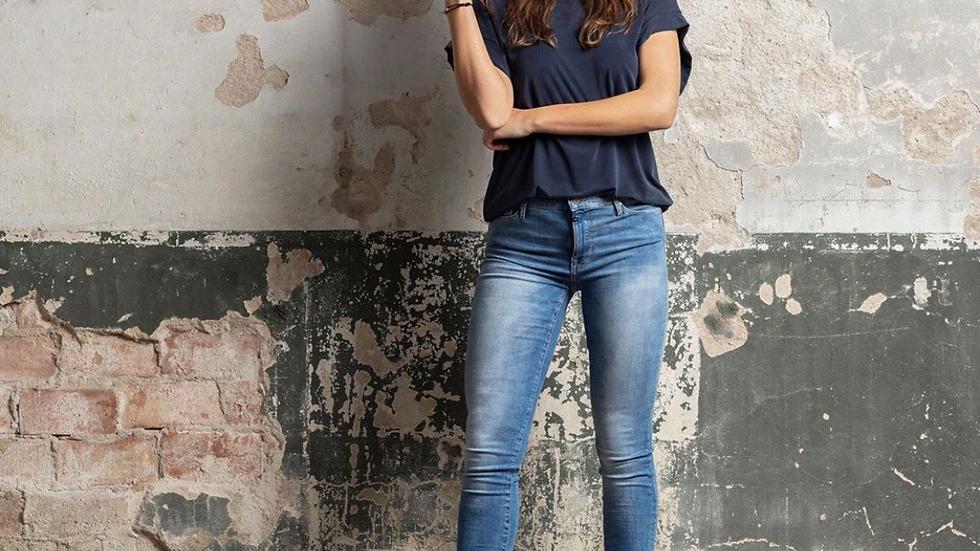Sophia medium blue skinny jeans