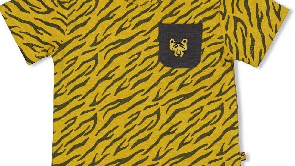 Feetje T-Shirt AOP Go Wild Okergeel Melange