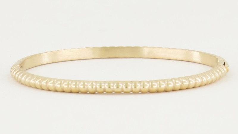 My jewellery bangle geribbeld small