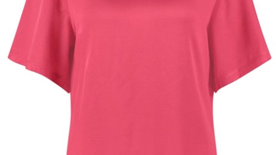 Studio Anneloes 2way Satin Shirt Ella in Raspberry