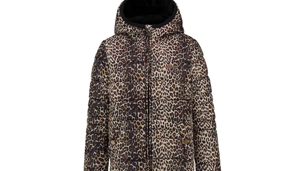 Vingino jas, Reversible, Leopard print/deep black