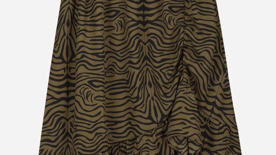 NIK & NIK Asymmetrische rok met zebra print VALERIE ZEBRA SKIRT
