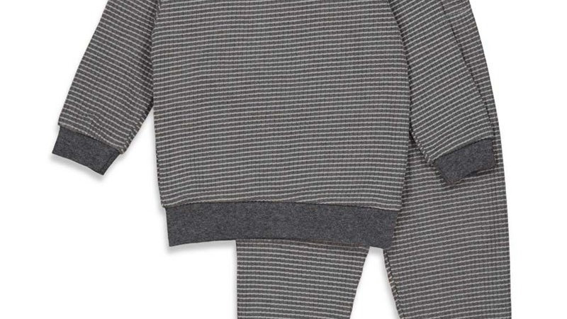 Pyjama wafel Artikelcode : 305.533 Kleur: Antraciet Autumn Special