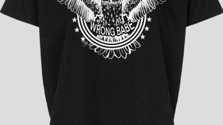 PiNNED by K Shirt Kids Wrong Babe Black