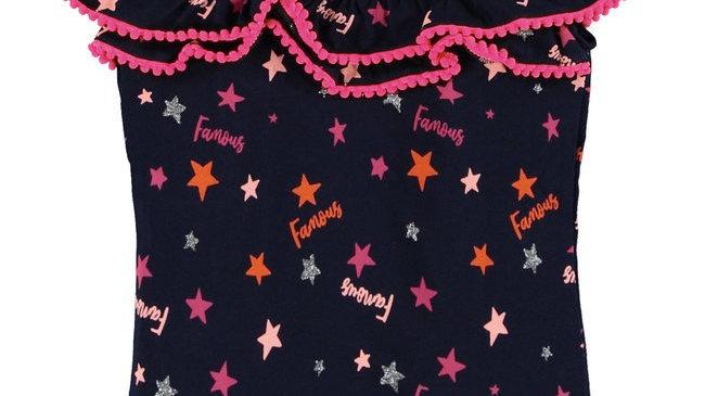 O'CHILL O'Chill Meisjes t-shirt - Djeslyn - Marine blauw