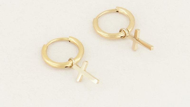 My jewellery oorringen met kruisjes