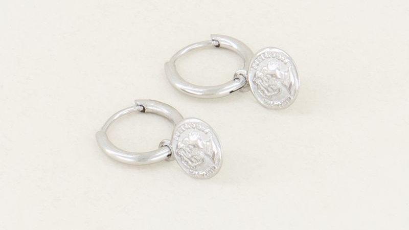 My jewellery Oorringen met muntje