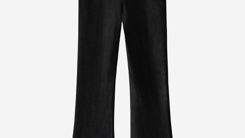 NIK&NIK Zwarte legging met wijde pijp FARICA LEGGING