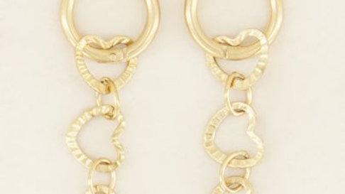 My jewellery oorringen hartjes