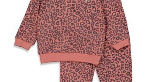 Pyjama wafel Artikelcode : 305.535 Kleur: Terra Pink Fashion Edition