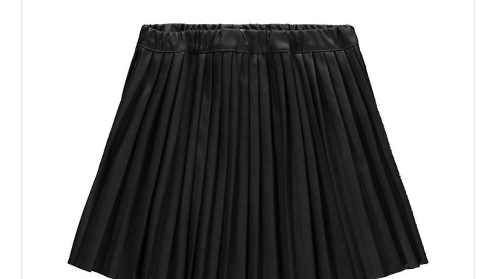 Name it geplooid PU skirt Nattie, leather look