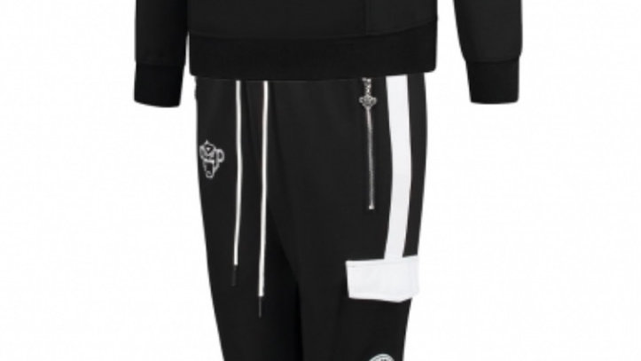 JR High Collar Tracksuit black Bananas
