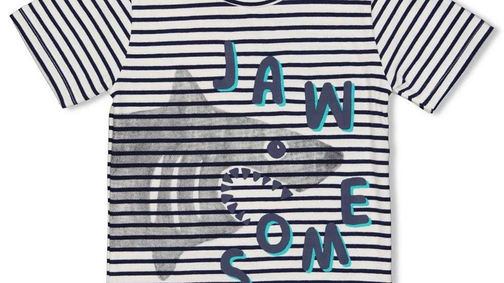Sturdy - T-shirt streep - Smile Wave Indigo