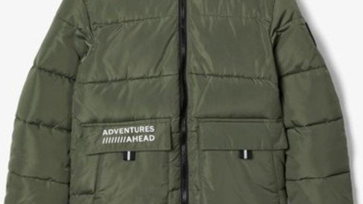 Long Puffen Jacket groen van Name IT