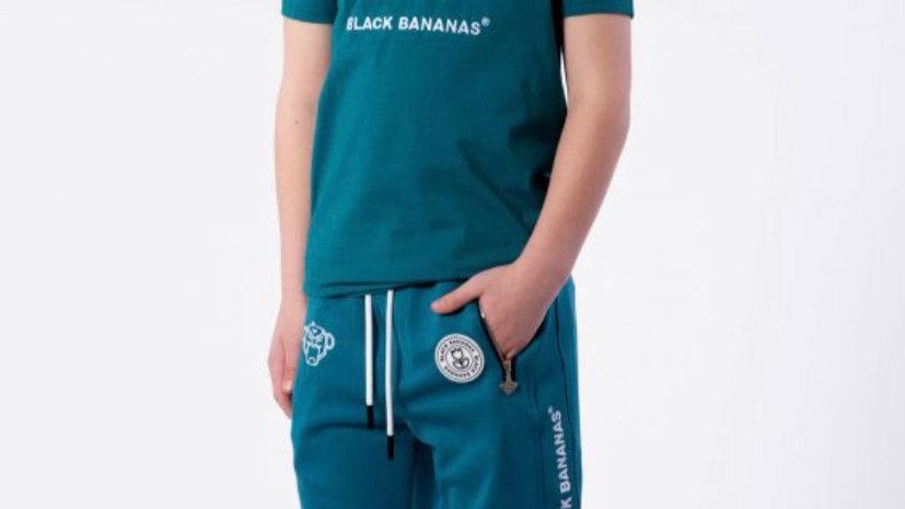 Black Bananas logo short in AQUA
