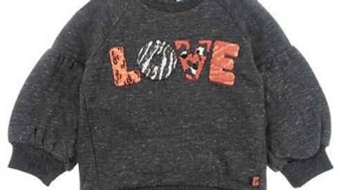 Feetje Sweater Love - Zebra Artikelcode : 516.01625 Kleur: Antraciet melange