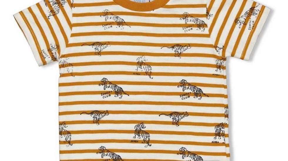 T-shirt - Okergeel - Happy Camper