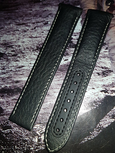 Omega Speedmaster 'Pitch Black' DSOM 21mm CUZ004249 BLACK Leather Strap