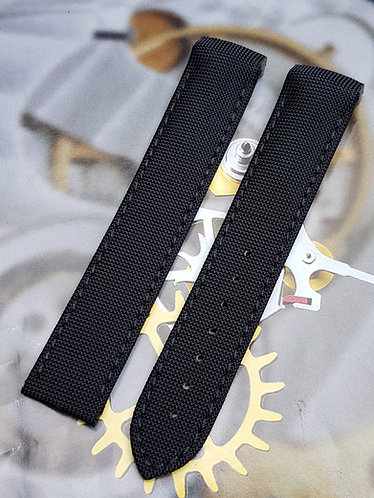 Omega Speedmaster 'RACING' 19mm 98000315 BLACK Fabric Strap