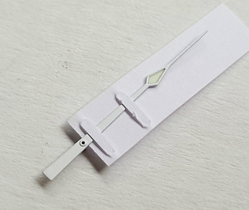 Omega Speedmaster 14mm White Modern Sweep Second Hand c.1861 c.861