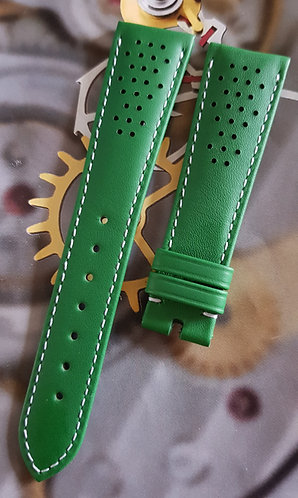 Omega Seamaster Olympic 20mm CUZ010023 GREEN Leather Pin Buckle Strap