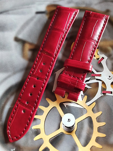 032CUZ012572 Omega Speedmaster 20mm BURGANDY ALLIGATOR Pin Buckle Strap