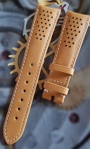 Omega Seamaster Olympic 20mm CUZ010014 YELLOW Leather Pin Buckle Strap