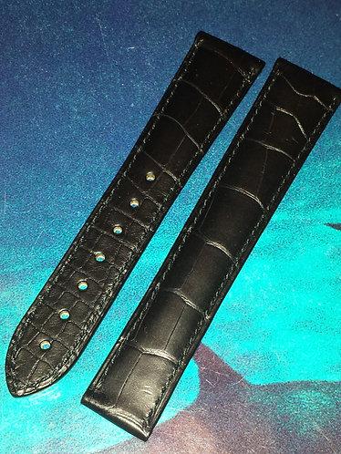 Omega VINTAGE Speedmaster / Seamaster 19mm 98000028 BLACK Alligator Strap