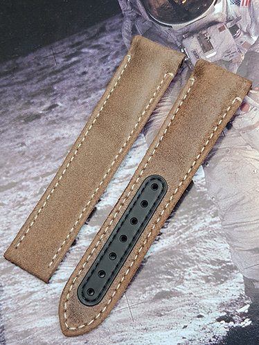 Omega Speedmaster 'Vintage Black' DSOM 21mm CUZ004039 BROWN Leather Strap