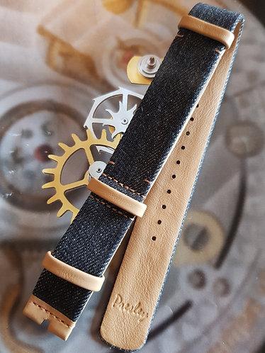 Omega Speedmaster PRESLEY GERBER 20mm CWZ010934 NATO Black Denim Buckle Strap