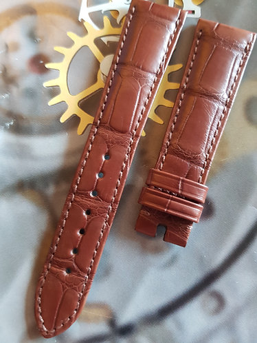 Omega Seamaster 20mm CUZ010029 MID BROWN ALLIGATOR Pin Buckle Strap