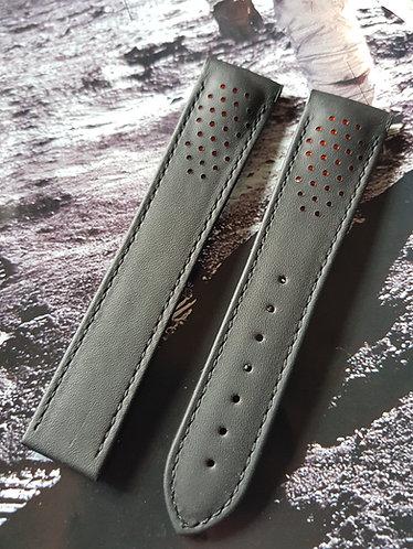Omega Speedmaster 'RACING' 21mm CUZ007470 BLACK Leather Strap
