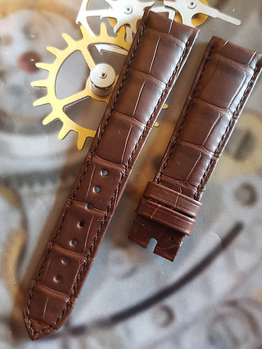 Omega Seamaster 20mm CUZ010035 BROWN ALLIGATOR Pin Buckle Strap