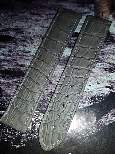 Omega Speedmaster Moonphase 21mm CUZ005771 GREY Alligator Strap