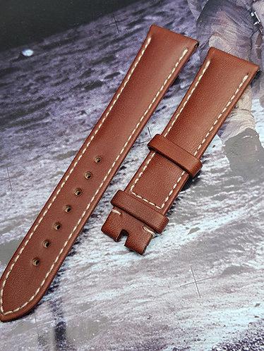 Copy of Omega Speedmaster FOIS 19mm 98000409L LONG BROWN Leather Buckle Strap