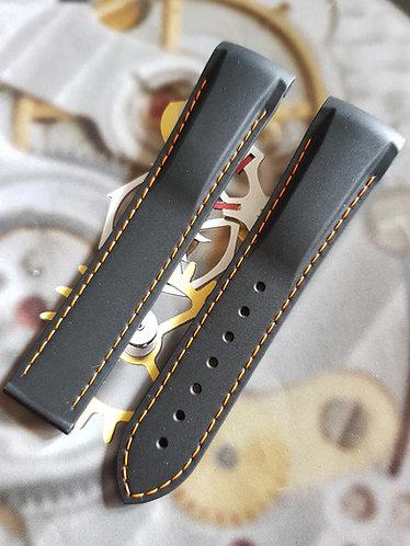 Omega Seamaster GMT Planet Ocean 21mm 98000436 Black / Orange Rubber Strap