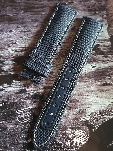 Omega SNOOPY APOLLO 13 Speedmaster 20mm CWZ014510 BLUE Cordura Pin Buckle Strap