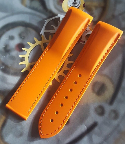 Omega Seamaster c.9300 Planet Ocean 22mm 98000375 ORANGE Rubber Strap