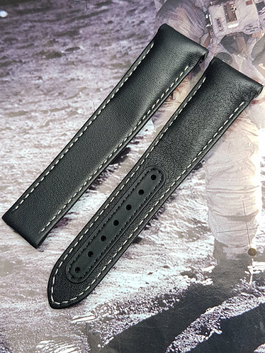 Omega Speedmaster 'Pitch Black' DSOM 21mm CUZ004037 BLACK Leather Strap