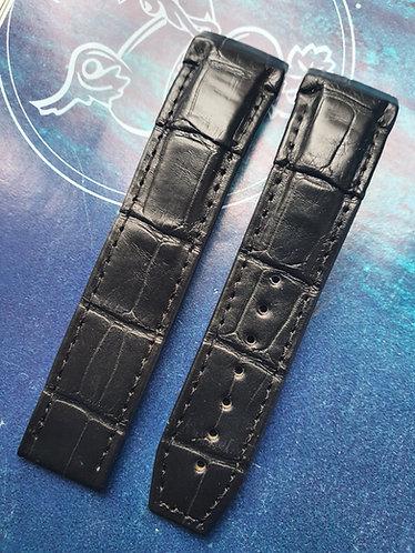Omega DEVILLE X2 21mm 98000223 BLACK Alligator Strap