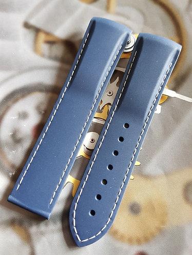 Omega Seamaster c.8500 Planet Ocean 22mm 98000384 BLUE / WHITE Rubber Strap