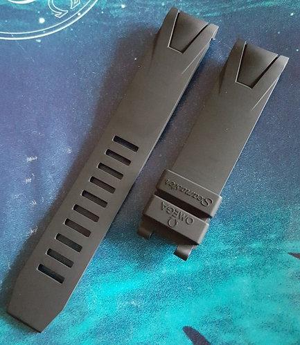 Omega Seamaster 20mm 98000085 BLACK Rubber Strap (Fits Most)