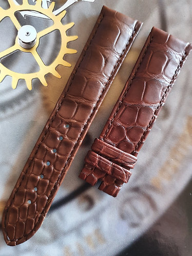 Omega Seamaster 20mm 98000343 MID BROWN ALLIGATOR Pin Buckle Strap