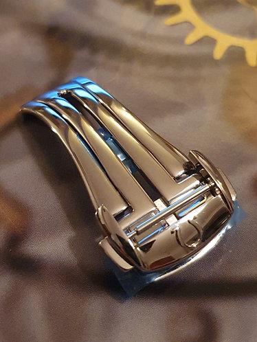 Omega Steel Deployment Clasp 16mm 94521613 Original Polished Design