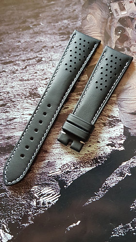 Omega Seamaster Olympic 20mm CUZ010017 BLACK Leather Pin Buckle Strap