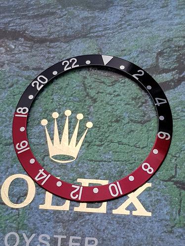 GENUINE ROLEX 1980s - 2000s GMT Master II COKE Bezel Insert 16700 16760 16710