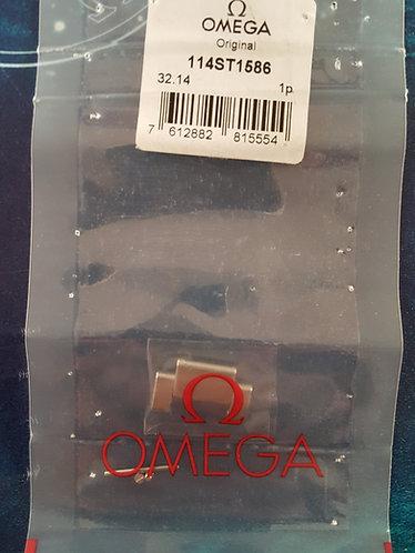 114st1586 GENUINE Omega Seamaster 1585 1586 Steel Full Link Aqua Terra