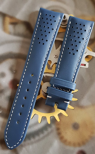 Omega Seamaster Olympic 20mm CUZ010011 BLUE Leather Pin Buckle Strap
