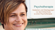 Überlegungen vor einer Psychotherapie