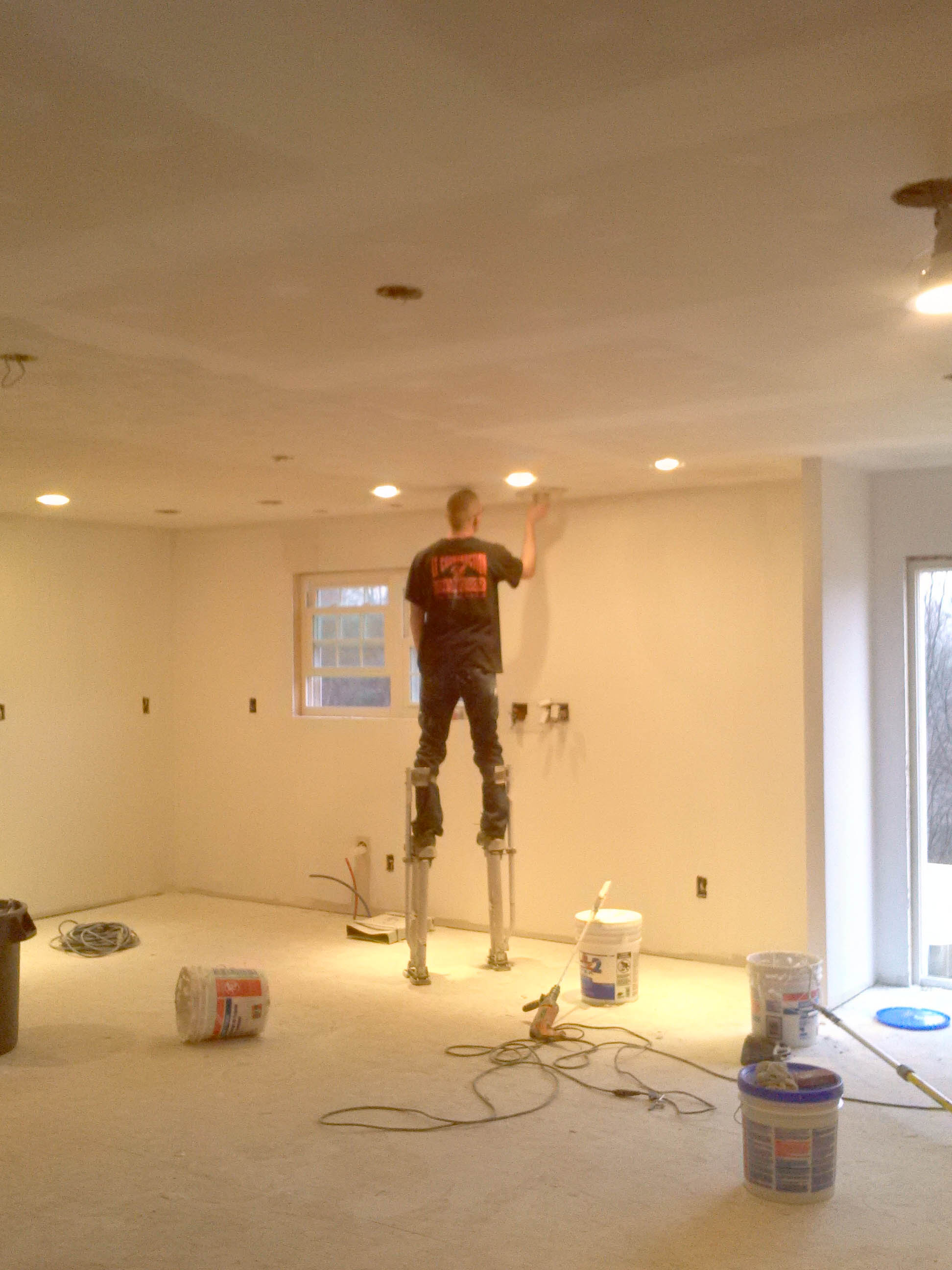 Drywall finishing/ light intall